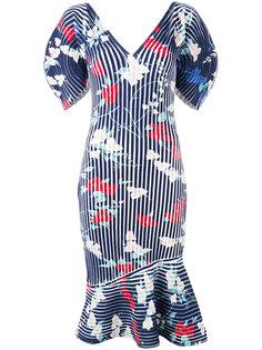 структурированное платье с принтом Salvatore Ferragamo