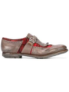 туфли монки с клетчатыми вставками Churchs
