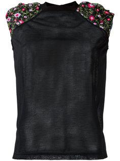 футболка с цветочной вышивкой Kolor