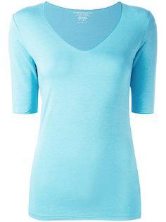 блузка слим с V-образным вырезом  Majestic Filatures