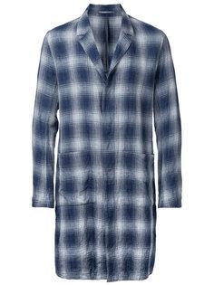 однобортное пальто в клетку Kazuyuki Kumagai