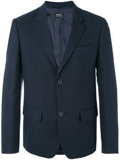 пиджак с застежкой на две пуговицы A.P.C.