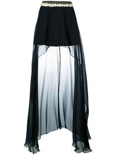 асимметричная драпированная юбка Wandering
