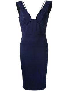 платье-бюстье с приспущенными лямками Victoria Beckham