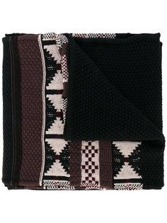 шарф с геометрическими узорами Maison Margiela