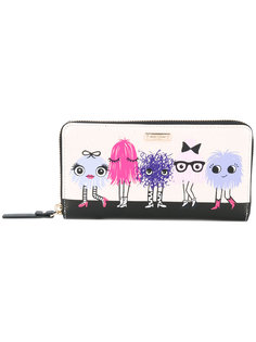 printed zip around wallet Kate Spade