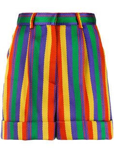 полосатые шорты с завышенной талией Rossella Jardini