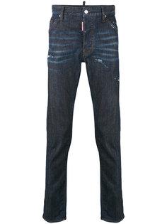 джинсы кроя слим с потертой отделкой Dsquared2