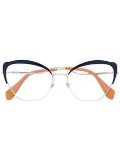 cat eye glasses Miu Miu Eyewear