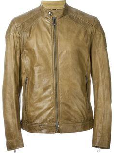 кожаная куртка на молнии Belstaff