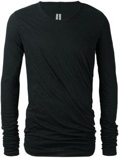футболка с драпировкой Rick Owens
