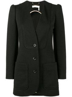 однобортный пиджак с заостренными рукавами Chloé