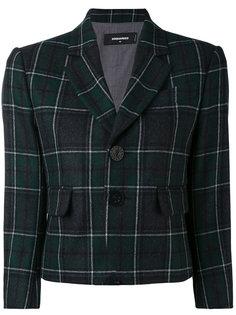 укороченный пиджак в шотландскую клетку Dsquared2