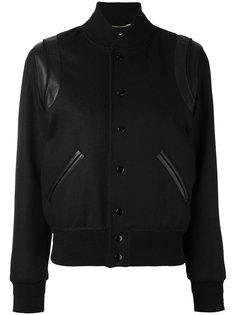 классическая куртка из плюша Saint Laurent
