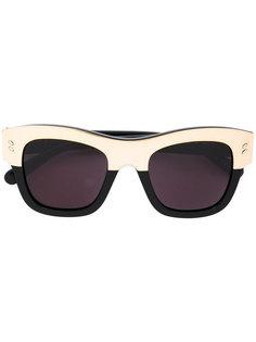 двухцветные квадратные солнцезащитные очки Stella McCartney
