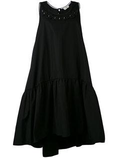 платье без рукавов с цветочным декором Fendi