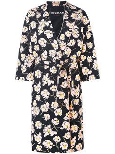 floral print midi coat Rochas