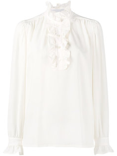 блузка с высокой горловиной и оборками Stella McCartney