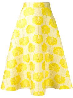 расклешенная юбка с вышивкой P.A.R.O.S.H.