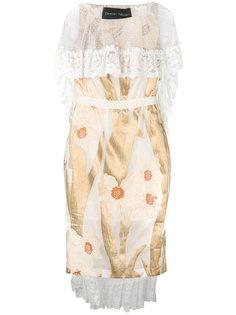 коктейльное платье с кружевной накидкой Christian Pellizzari
