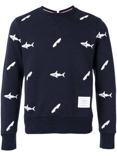 fish print sweatshirt  Thom Browne
