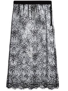 полупрозрачная кружевная юбка  Maison Margiela