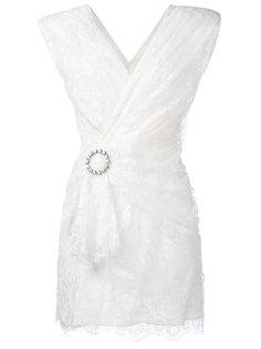 кружевное платье с запахом Alessandra Rich