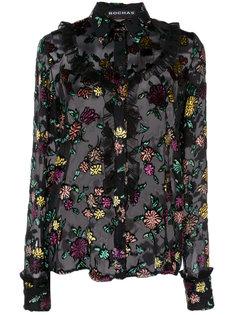 блузка с вышивкой Rochas