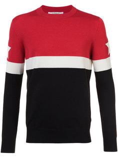 свитер с панельным дизайном и звездами Givenchy
