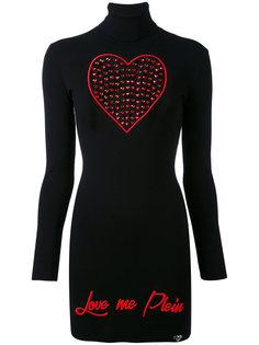 трикотажное платье с сердцем Philipp Plein