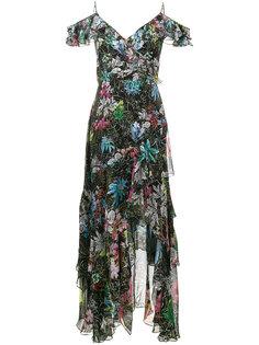 платье из рукавов с оборками и цветочным принтом Peter Pilotto
