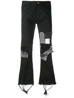 bandana cropped flared jeans Heikki Salonen