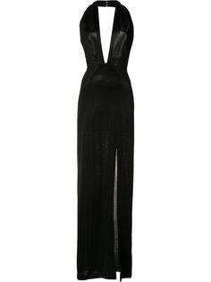 платье с вырезом-халтер  Galvan