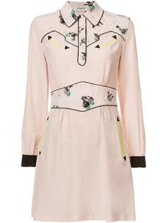 платье-рубашка с абстрактной отделкой Coach
