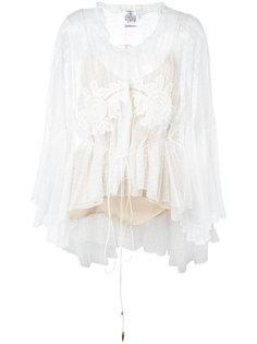 кружевная блузка с вышивкой Chloé