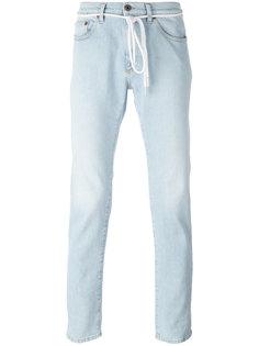 джинсы с легким эффектом потертости Off-White