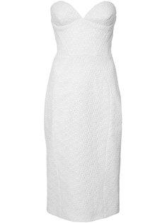 облегающее платье без рукавов Christian Siriano