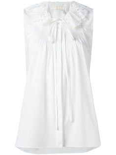 блузка с ажурным воротником Chloé