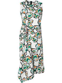 платье Whisper с узором и драпировкой Marni