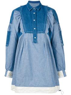 лоскутное джинсовое платье Sacai