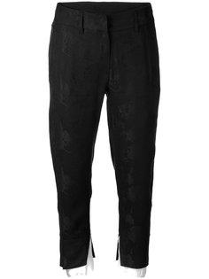 укороченные брюки с контрастным слоем Ann Demeulemeester