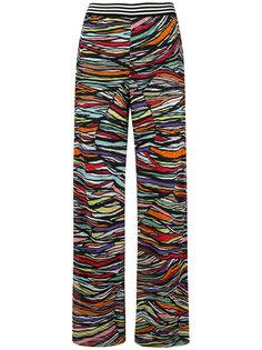 вязаные широкие брюки Missoni