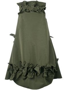 расклешенное платье с бантами Maison Rabih Kayrouz