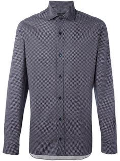 рубашка с геометрическим узором Z Zegna