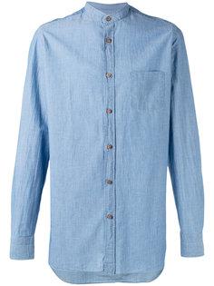 однотонная рубашка Borrelli