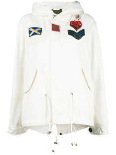 пальто с капюшоном и заплатками Mr & Mrs Italy