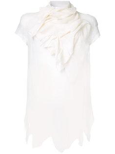 асимметричная блузка с драпировкой Aganovich