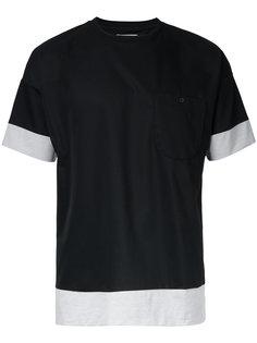 футболка с контрастным дизайном Factotum