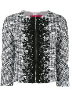 жаккардовый укороченный пиджак  Moncler Gamme Rouge