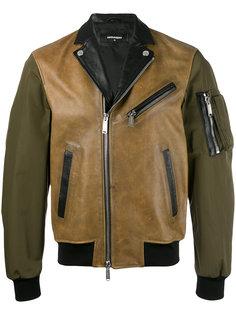 байкерская куртка с контрастным дизайном Dsquared2